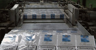 Производството на цигари се е сринало с близо 36%