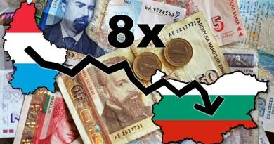 Българите вземат 7 пъти по-малко от французите