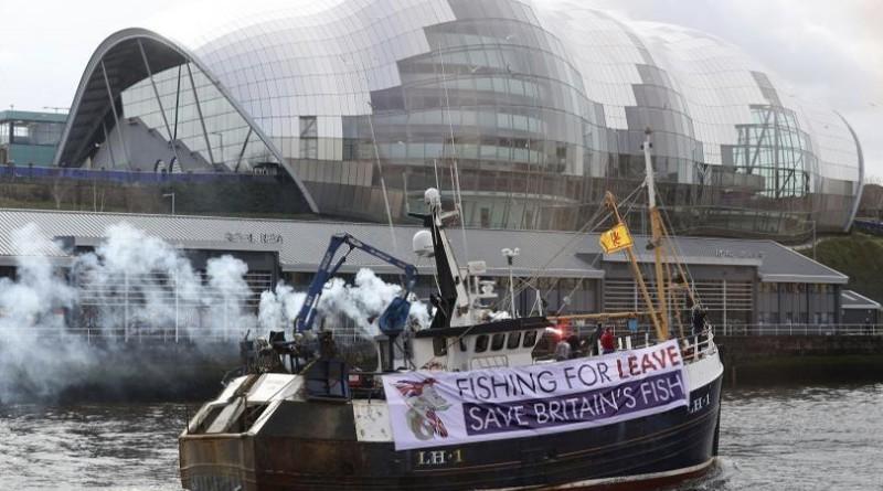 Британски рибари Брекзит протест