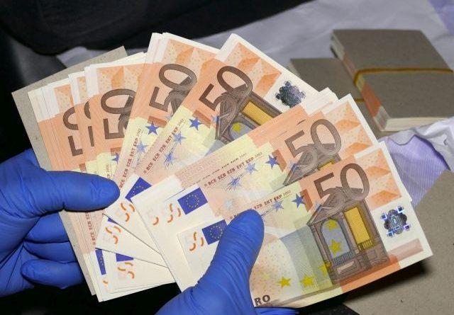 евробанкнотите менте намаляха
